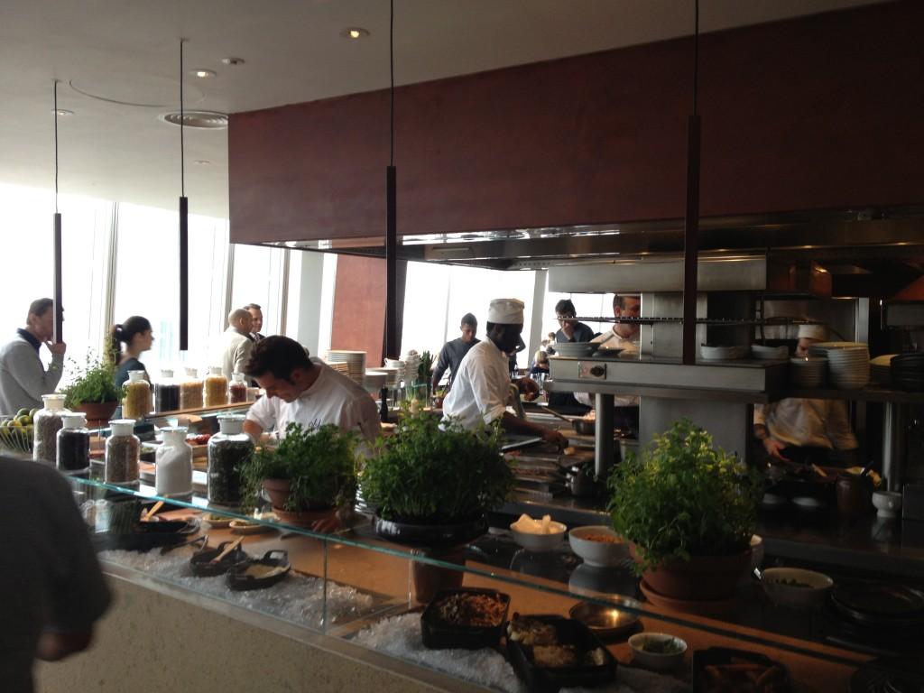 Oblix restaurant kitchen