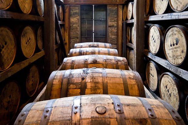 Woodford Reserve barrels
