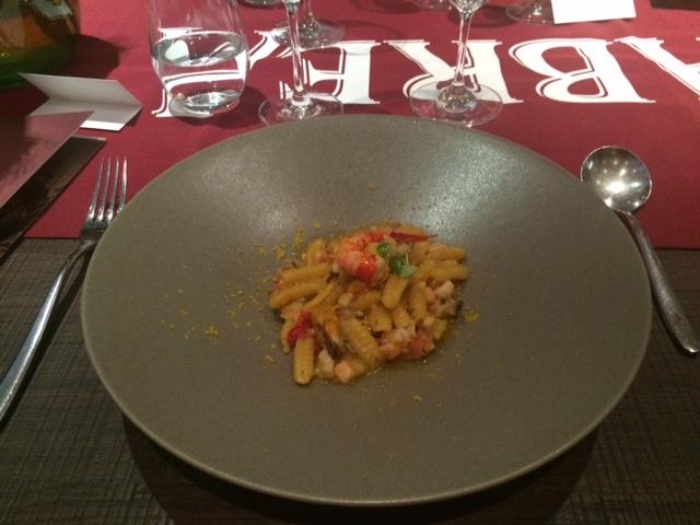 menabrea at lanima seafood pasta