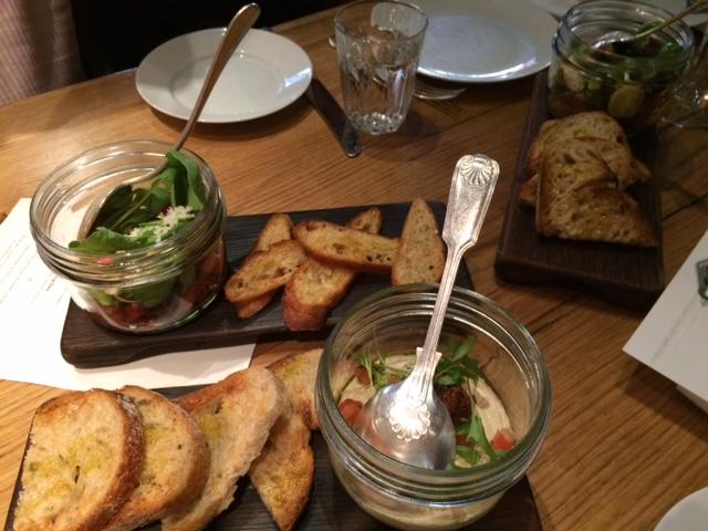 London foodie blog review of Social Eating house soho jars